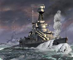 Otra de Thomas Schmid sobre el HMS Hood en el Estrecho de Dinamarca