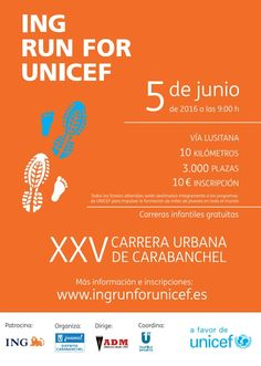 atletismo y algo más: 12105. #Atletismo. ING RUN FOR UNICEF - XXV Carrer...