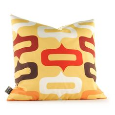 Smile in Sunflower and Scarlet Pillow
