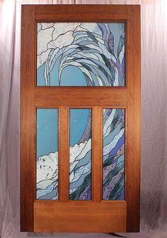 Custom Made The Seashine Entry Door ~ Batten down the hatches; the seas are getting rough.
