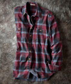 Vintners Plaid Shirt-Carbon 2 Cobalt