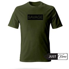 savage green army color T shirt size XS – 5XL