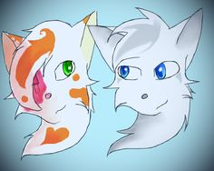 Cloudtail and Brightheart by silvershade21XD.deviantart.com on @DeviantArt