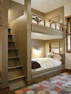 Built in bunk bed design!  Awesome!