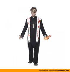 Disfraces para Halloween: Cura zombie.
