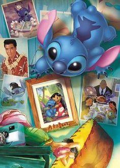 Tenyo Japan Jigsaw Puzzle DW-1000-262 Disney Stitch (1000 Pieces) Lilo Stitch, Lilo Y Stitch Dibujo, Lilo And Stitch Ohana, Disney Stitch, Lelo And Stich, Toothless And Stitch, Disney Puzzles, Stitch And Angel, Disney And More