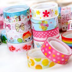 10pcs/lot Creative Cute Cartoon Tape Small Color PVC Tape Decoration Photo Album Washi Tape DIY Color Tape Can Do Wall Stickers