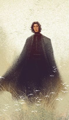 Afterblossom -- Kylo Ren in a field from Star Wars Episode IX Adam Driver, Kylo Ren Fan Art, Saga, Inuyasha Cosplay, Black And White Comics, Knights Of Ren, Star Wars Kylo Ren, Star Wars Fan Art, Reylo