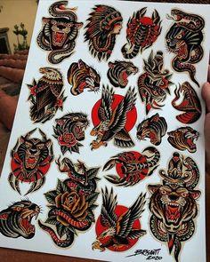 Traditional Tattoo Flash Art, Traditional Tattoo Sketches, Traditional Tattoo Old School, Traditional Tattoo Design, Traditional Flash, American Traditional, Traditional Tattoos, Neo Traditional Chest Tattoo, Tattoo Tradicional