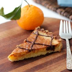Two Tarts | Recipes and Cocktails: Tangerine-Almond Tart with Chocolate Drizzle