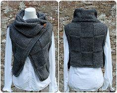 Ravelry: Grey wrap, sleeveless jacket pattern by Laura Dovile