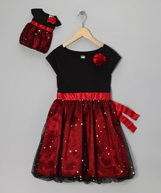 Take a look at this Red Sparkle Dress & Doll Outfit - Girls by Dollie & Me on #zulily today!