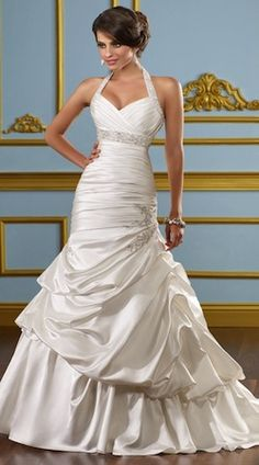 Halter wedding Dress Love the top not crazy about the bottom