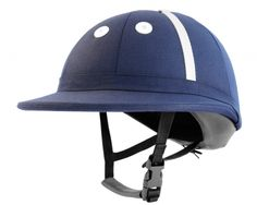 """Safety and style are no longer """"out of bounds"""" with the Palermo Polo helmet by Charles Owen. This low profile polo helmet meets or exceeds safety standards by offering additional protection via the padded nape and high-energy absorbing peak."""
