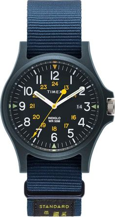 Project Acadia is the ultimate evolution of the iconic field watch, created by Timex in the Based on the system features: lightweight, Casual Watches, Cool Watches, Watches For Men, Field Watches, Watch One, Nato Strap, Leather Watch Bands, Omega Watch, Nordstrom