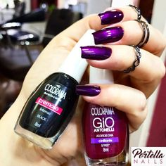 Melhores misturas de esmalte, o segredo parte 5 Fabulous Nails, Perfect Nails, Gorgeous Nails, Pretty Nails, Beautiful Toes, Shoe Nails, Gel Nails, Nail Polish, Finger