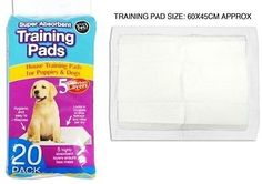 DOG PUPPY HOUSE LARGE ABSORBENT TRAINING TRAINER PADS TOILET WEE 60 X 45CM  Number of Pads  Our Price: £4.95