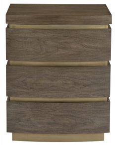 Figured Flat Cut Walnut Veneers In Warm Taupe Finish Three Push To Open Drawers X Lead Time May Vary Benjamin Johnston Design Bedside Table Inspiration