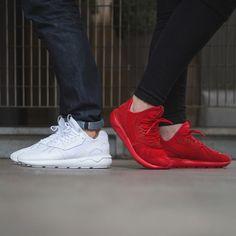 Adidas Tubular White On Feet