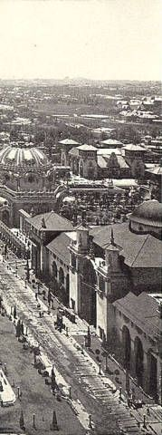 Esplanade Bandstands and Temple of Music from top of Electric Tower :: Pan-American Exposition of 1901, Buffalo, NY