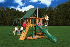 Gorilla Playsets Blue Ridge Overlook Wooden Swing Set