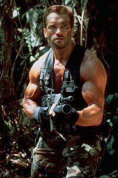 "Arnold Schwarzenegger as Major Alan ""Dutch"" Schaeffer in Predator One of the top 3 action movies of all time! Predator Movie, Predator Alien, Arnold Schwarzenegger, Keanu Reeves, Predator Arnold, Silvestre Stallone, Best Biceps, John Rambo, Alien Vs Predator"