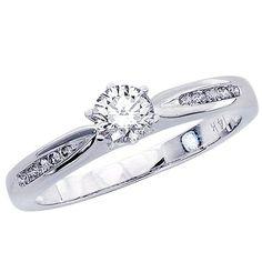 0.32 Carat Round Cut/Shape 14K White Gold Classic Channel Set Tapered Diamond Engagement Ring ( D-F Color , VS2-SI1 Clarity ) Chandni Jewels,http://www.amazon.com/dp/B00BVPWFJM/ref=cm_sw_r_pi_dp_Pi6-sb1W0DQKPHDX