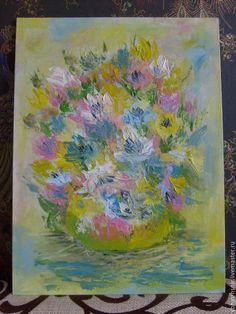 Картины цветов ручной работы. Ярмарка Мастеров - ручная работа. Купить Весеннее впечатление, масло, импрессионизм. Handmade. Картина, впечатление