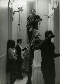 François Truffaut sur le tournage de «Domicile conjugal», 1970