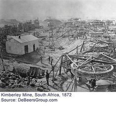 The Kimberly Mine in 1872 East Africa, North Africa, Diamond City, Antique Maps, African History, African Beauty, Continents, Geology, Past