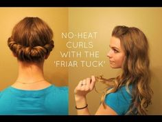 No-Heat Method for Curling Your Hair Overnight