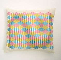 Framed Harlequin Cushion £30