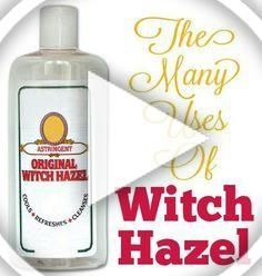 Combine 1 Part Witch Hazel With 3 Parts Rubbing Alcohol To Make A