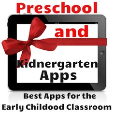 21 wonderful apps for Preschool and Kindergarten!