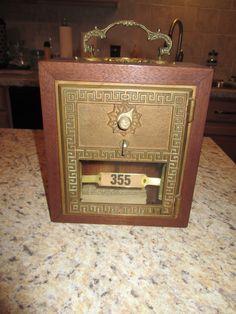 Antique Vintage Post Office Door Mail Box Postal