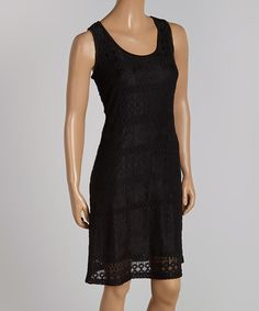 Another great find on #zulily! Black Geometric Sleeveless Dress - Women by Sharagano #zulilyfinds