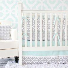 gray and mint nursery design
