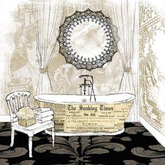 Newsprint Bathtube I (Carol Robinson)