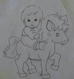 Horse Pictures To Color   Horse coloring page   Young foals play in     Menino no cavalo tp