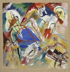 """Wassily Kandinsky Entwurf zu """"Improvisation 30 (Kanonen)"""", 1913"""