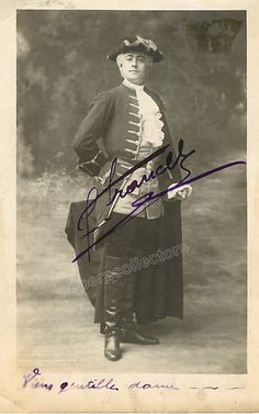Francell, Fernand - Signed Photo in Manon