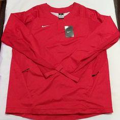 b71e5a5b NIKE Vapor Mens Baseball Windbreaker Long Sleeve Shirt Jacket Red  708188-657 http:/