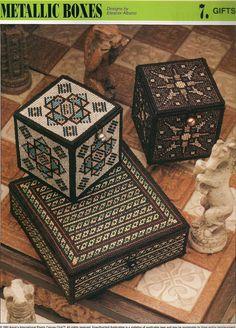 Metallic Boxes Plastic Canvas Pattern by needlecraftsupershop, $3.50