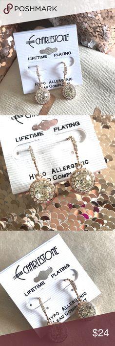 "✨ New! Austrian Crystal Drop Earrings New! Beautiful Austrian Crystal Pavé Drop Earrings!  Length 1"" Lifetime Plating Hypo Allergenic  Lead Compliant Fish Hook Design   Reasonable offers welcome! Bundle & Save Charlestone Jewelry Earrings"
