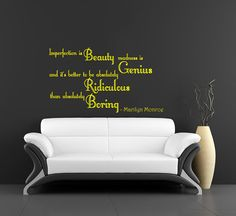 Imperfection is Beauty madness is Genius... Marilyn by BestDecals, $19.99