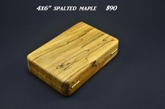 Custom wood fly boxes - different kinds of woods