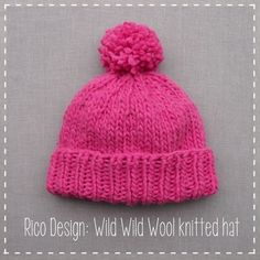 I love this product photography + digital overlay design combo! ~~ Rico Design: Knit a hat from one ball of yarn.