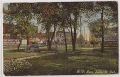 1911 Fargo North Dakota Postcard Northern Pacific Park Street View ND Postmark | eBay
