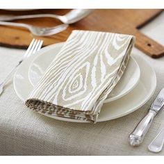 faux bois napkins