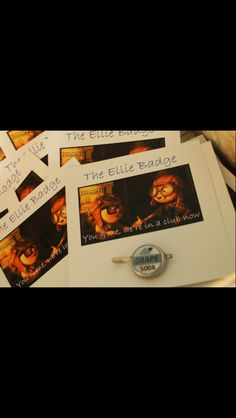 The Ellie badge. Disney Pixars Up themed birthday party.